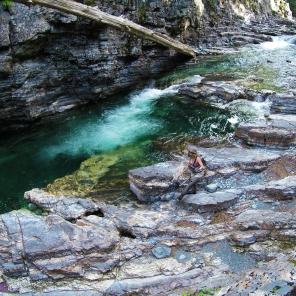 A beautiful, cascading canyon pool