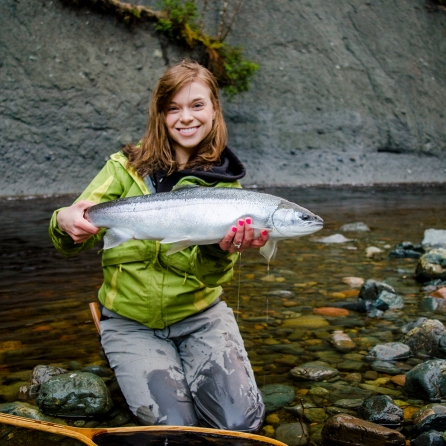 Kitty's 6/10 river and her 2/5 for new ones. A recognizable run that holds a lot of fish at the right times!