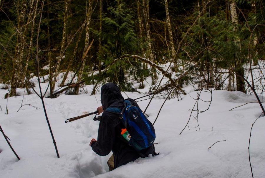 Dan in snow